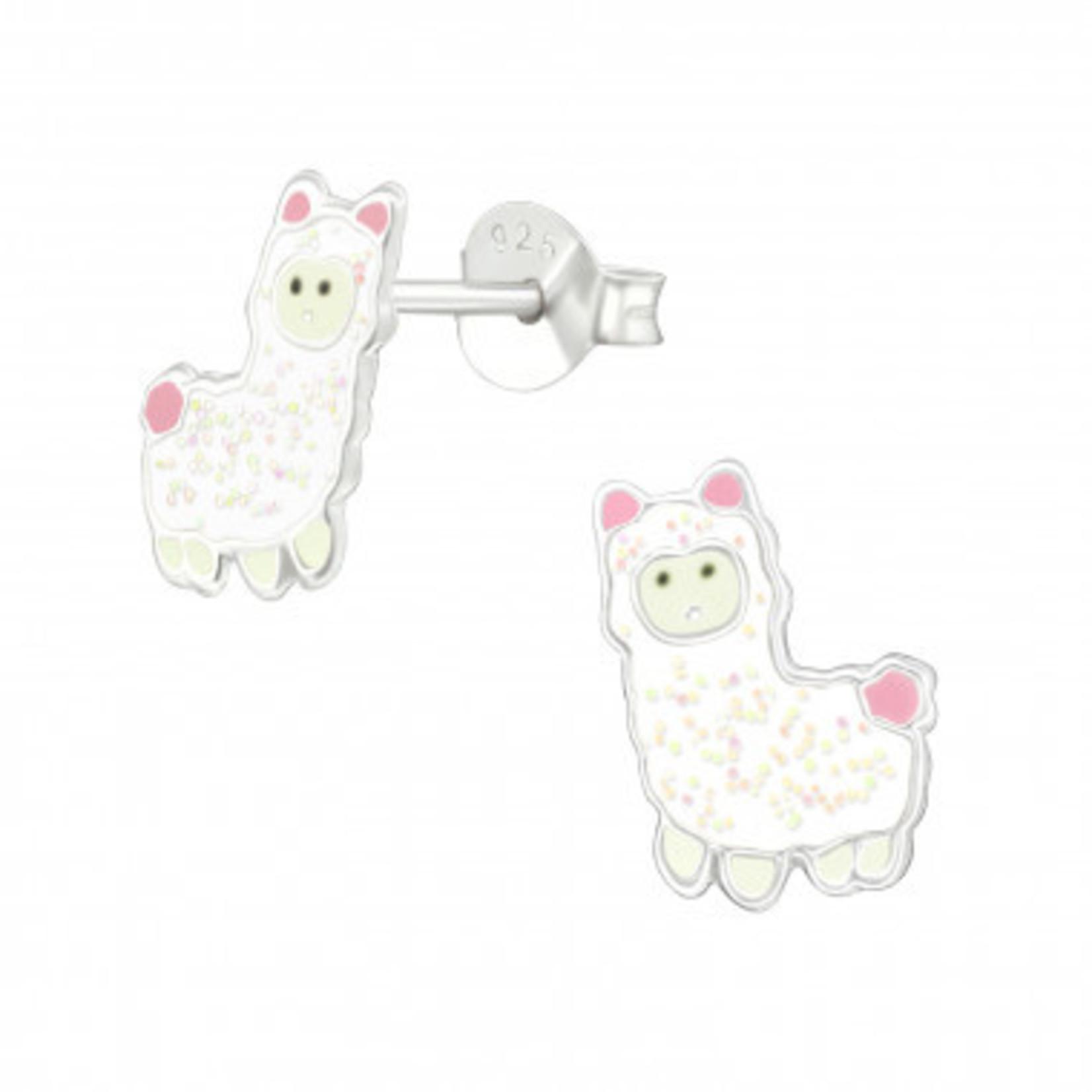 Oorstekers - Alpaca - Wit