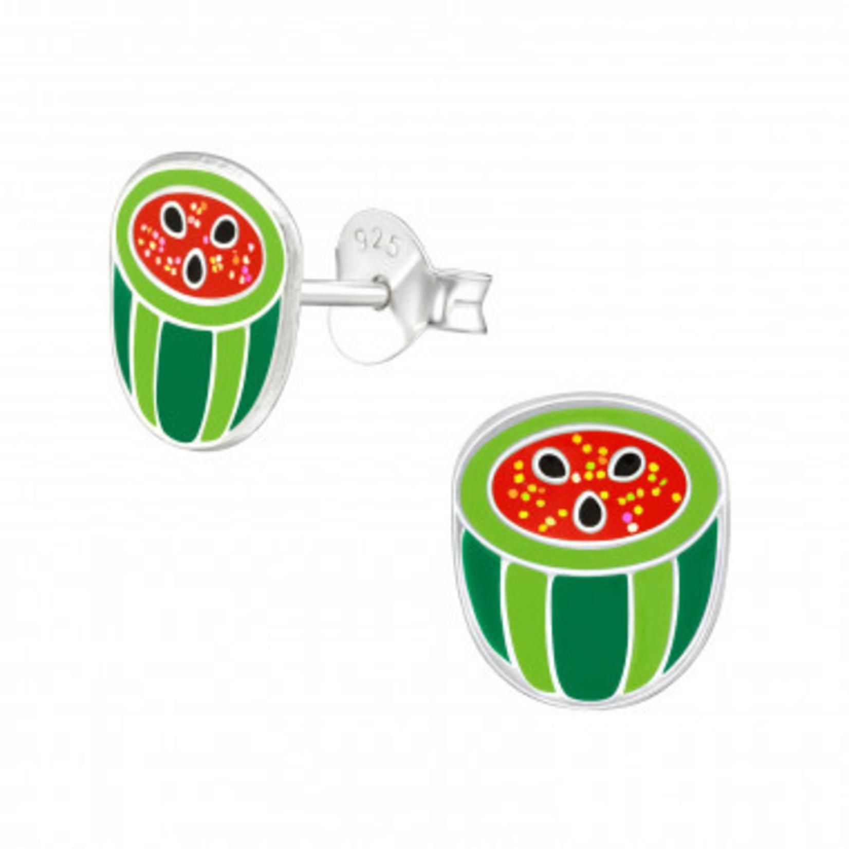 Oorstekers - Halve watermeloen - Rood/Groen
