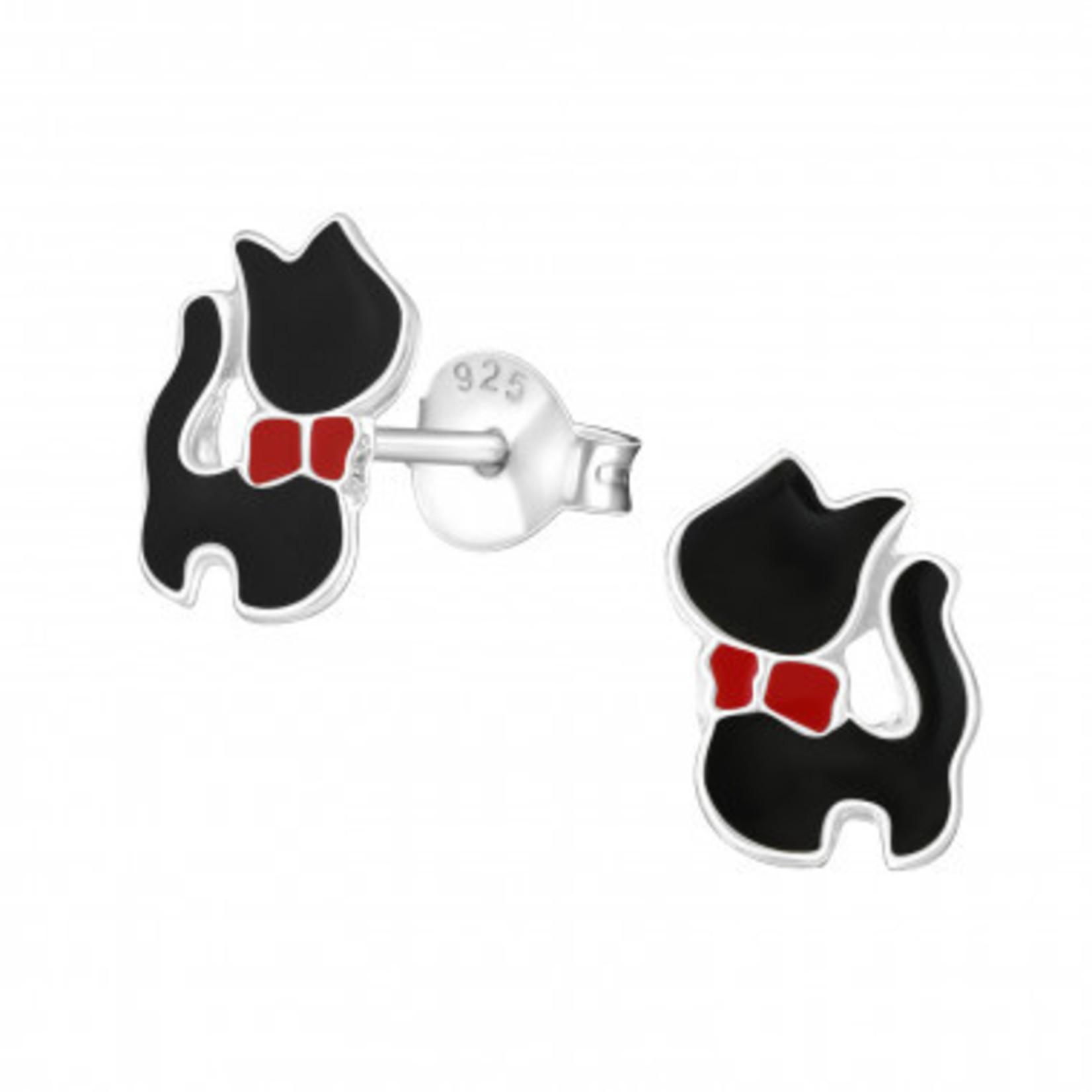 Oorstekers - Kat staand - Zwart
