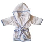 Badjasje - Wit met blauwe rand - 12mnd