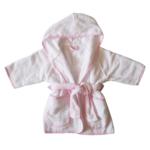 Badjasje - Wit met roze rand - 12mnd