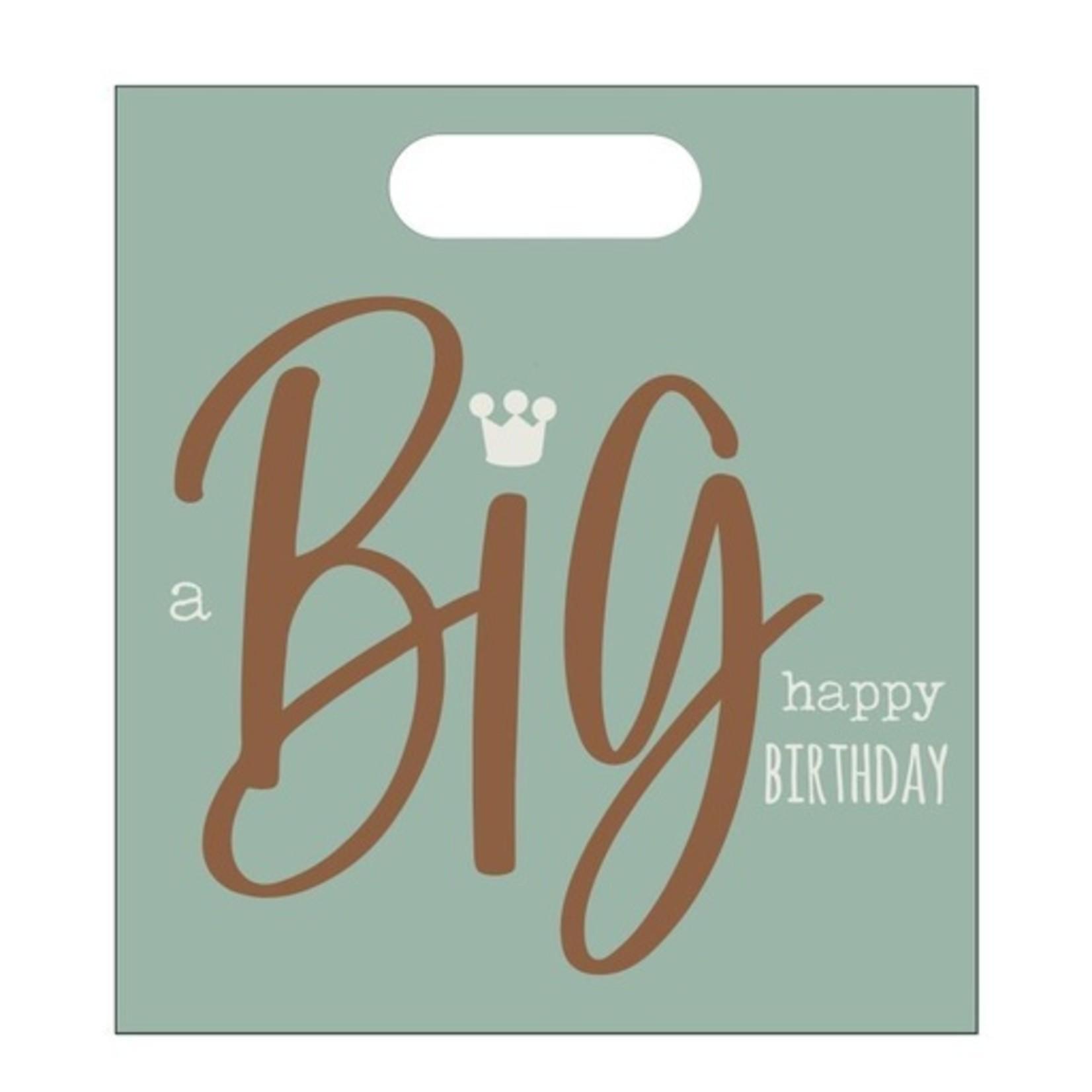 Luxe zakje - a BIG happy birthday - 24x27cm