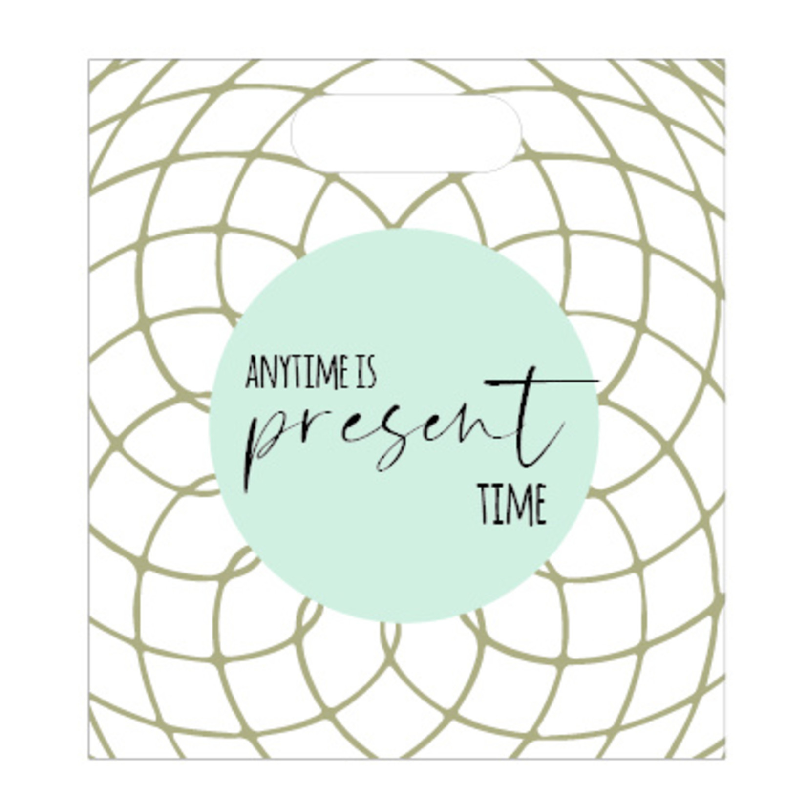 Luxe zakje - Anytime is present time - 24x27cm