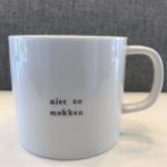 Koffiemok - Niet zo mokken - Wit