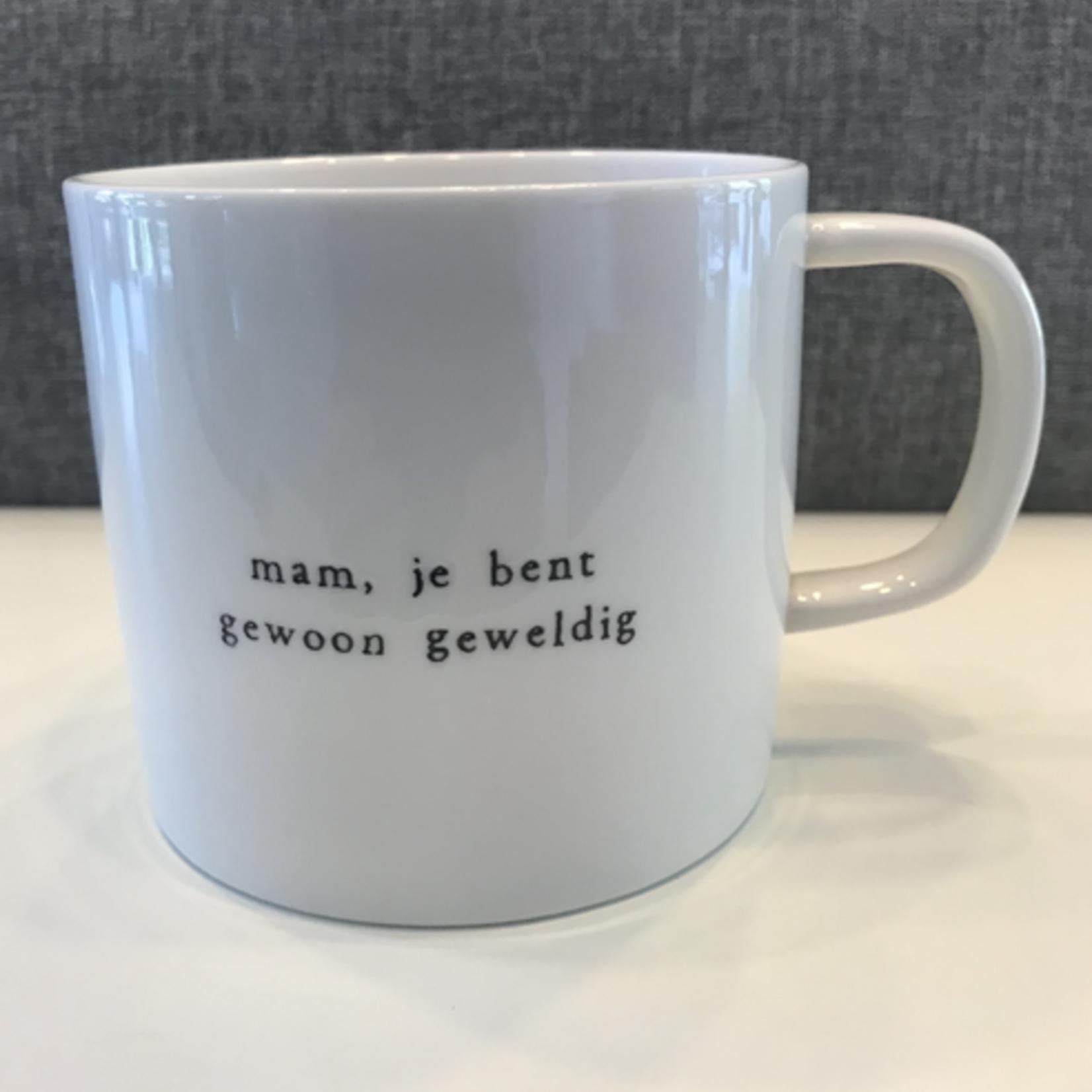 Koffiemok - Mam, je bent gewoon geweldig - Wit