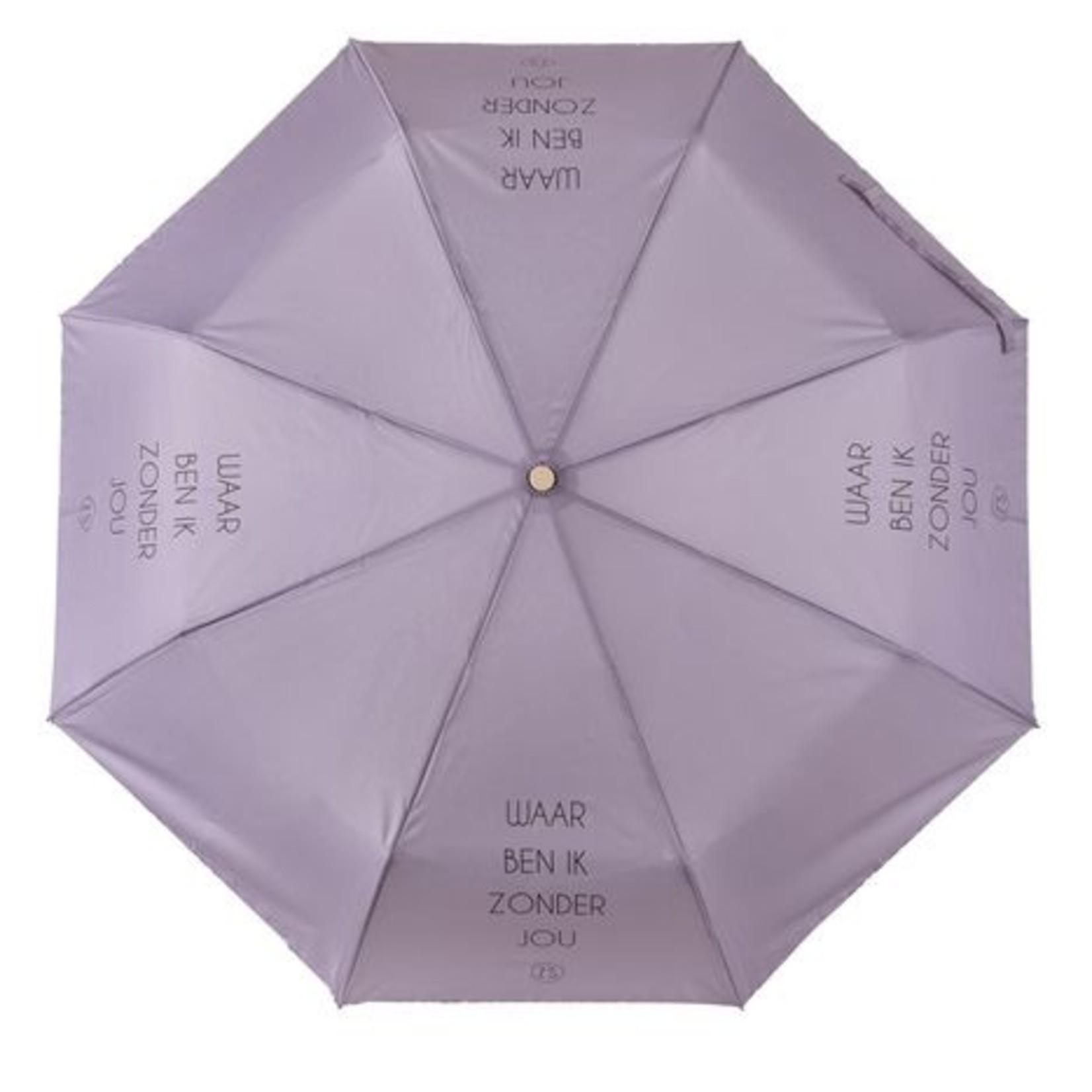 Zusss Paraplu - Inklapbaar - Waar ben ik zonder jou