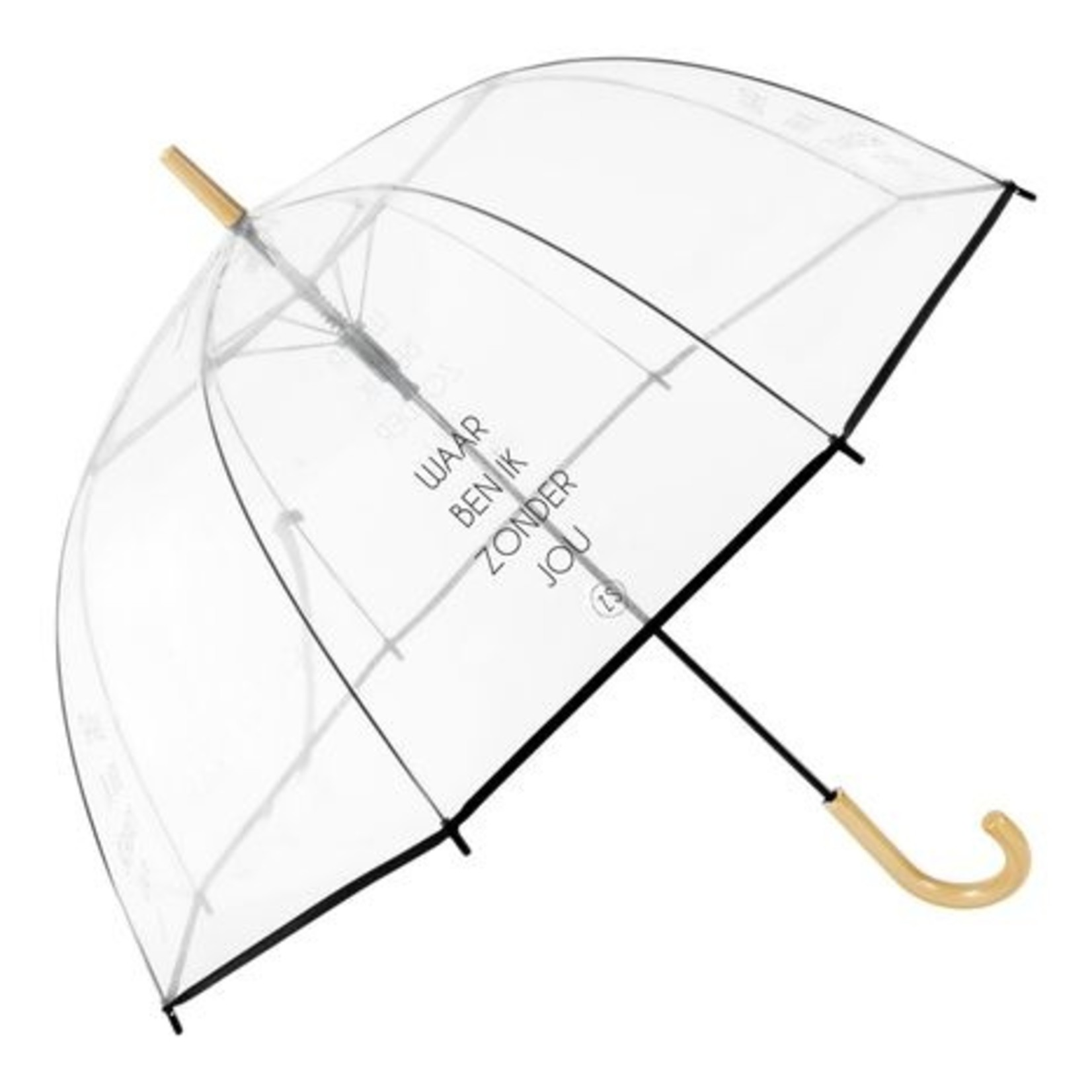 Zusss Paraplu - Lang - Waar ben ik zonder jou