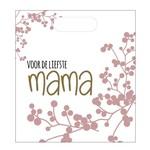 Luxe zakje - Voor de liefste mama - 24x27cm