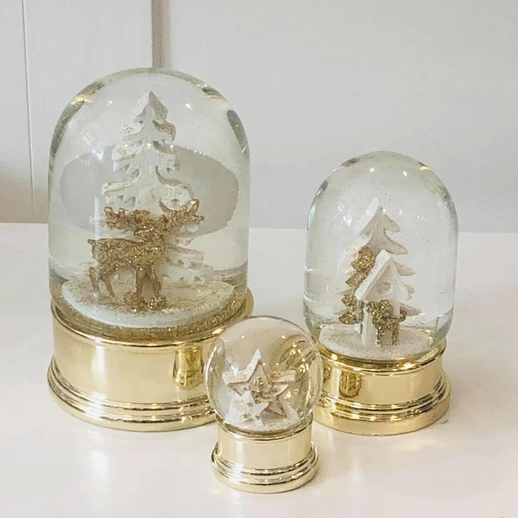Kleine gouden globe met ster - Ø4,5cm  x 6cm hoog