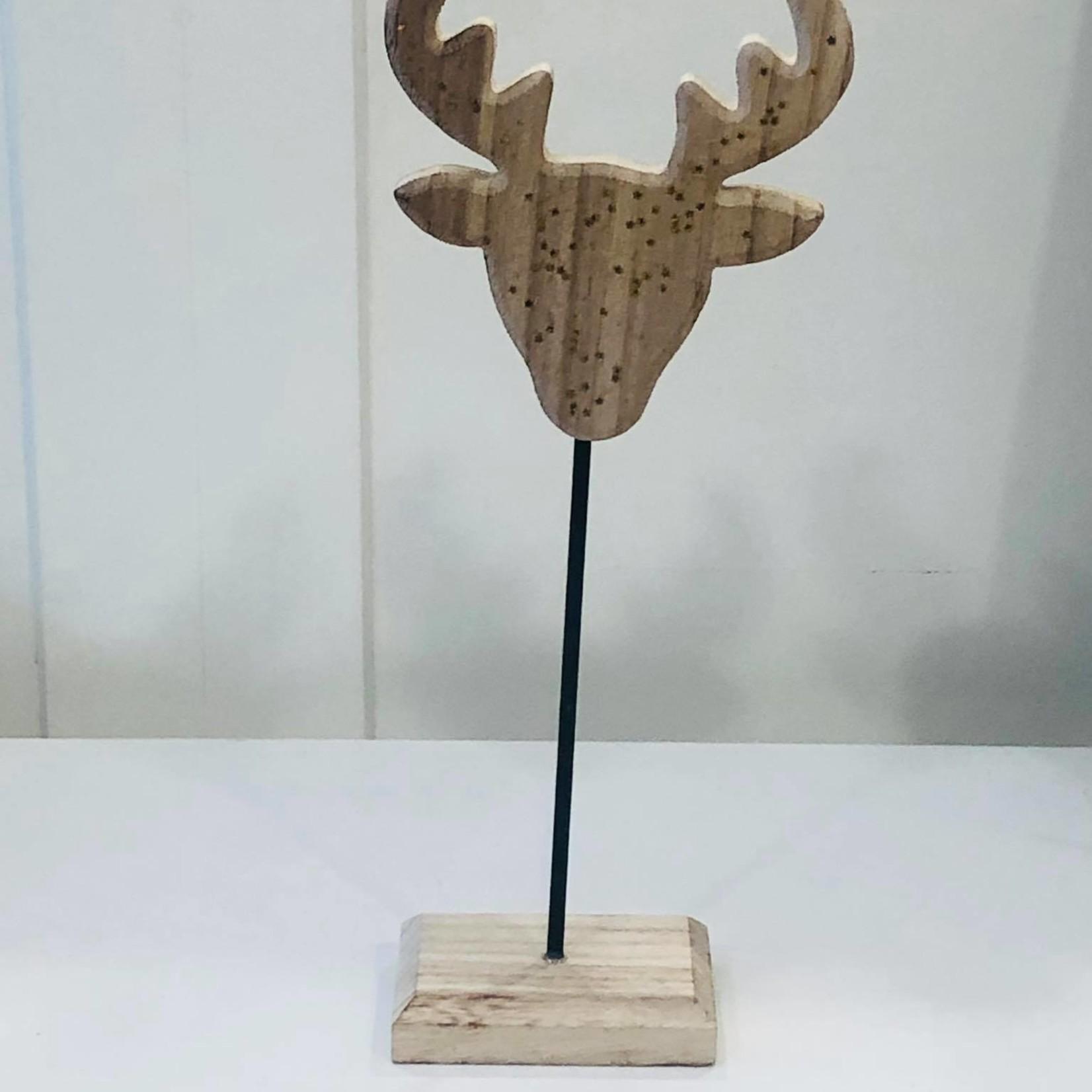 Rendier hoofd op voet - 34cm