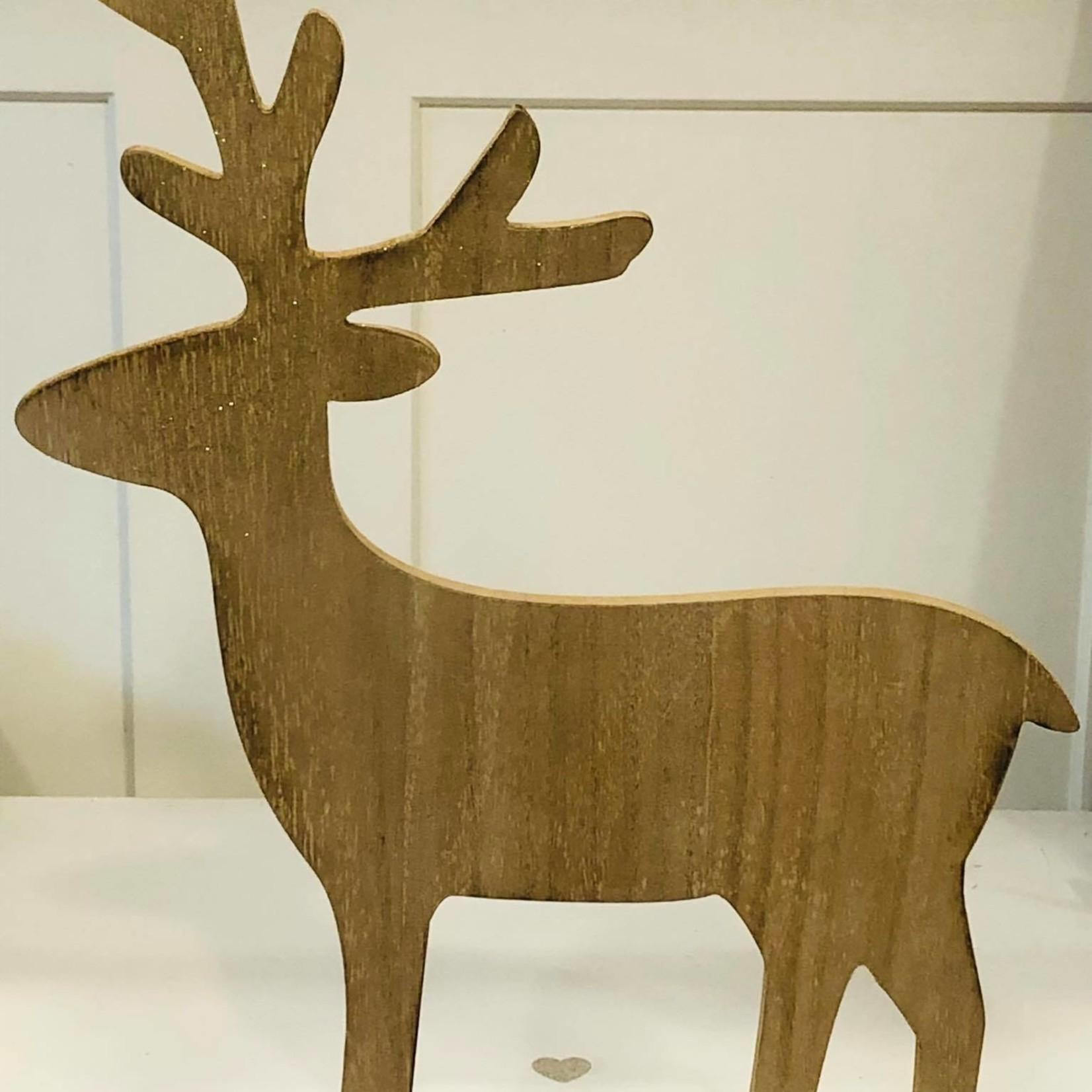 Hert op staander - Naturel - 44,5cm x 34cm