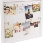 Fotokader Clothesline  - Wit - 15x43x3,5cm