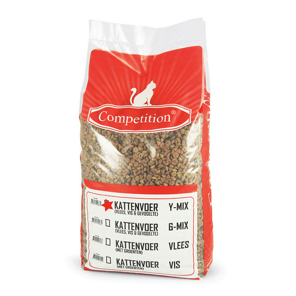 Competition Kattenbrokjes Y mix Kip Adult (10 kg)