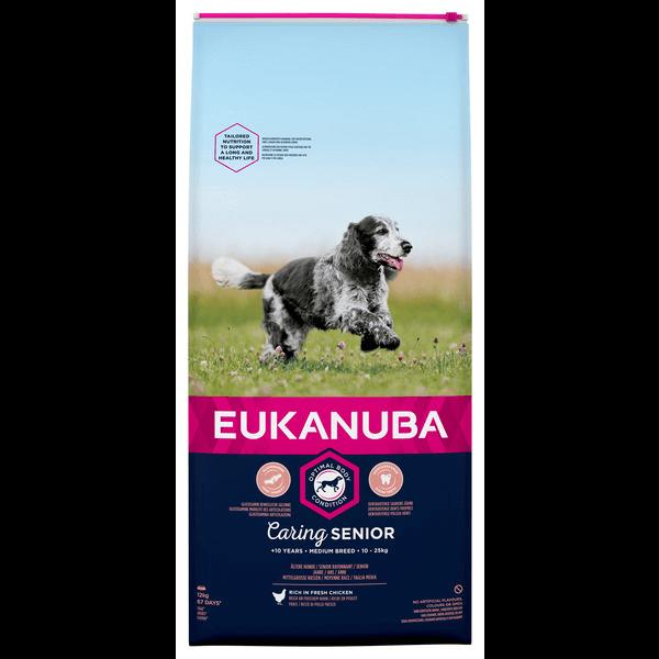 Eukanuba Caring Senior Medium Breed Kip (12 kg)