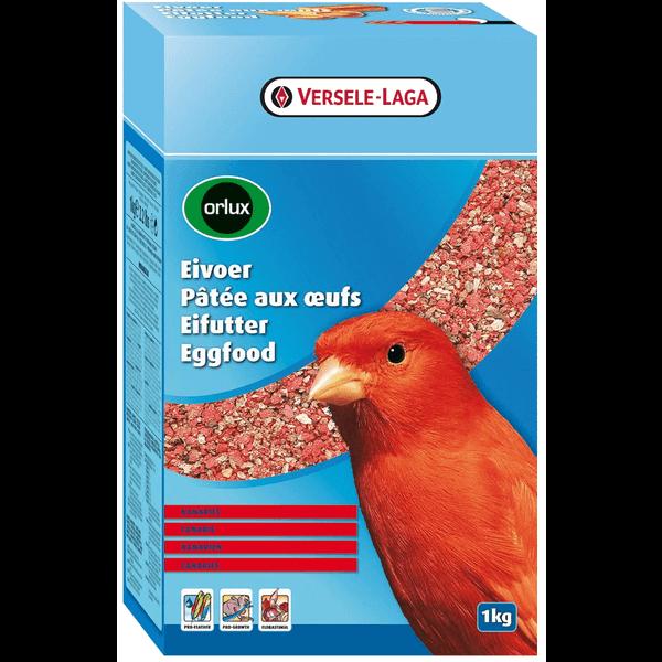 Orlux Eivoer met rode kleurstof voor Kanaries, Inlandse & Tropische vogels