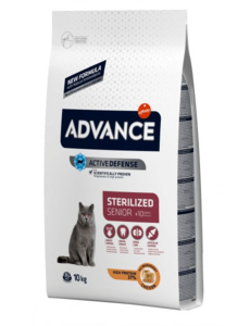 Advance Cat Sterilzed Sensitive Senior 10+