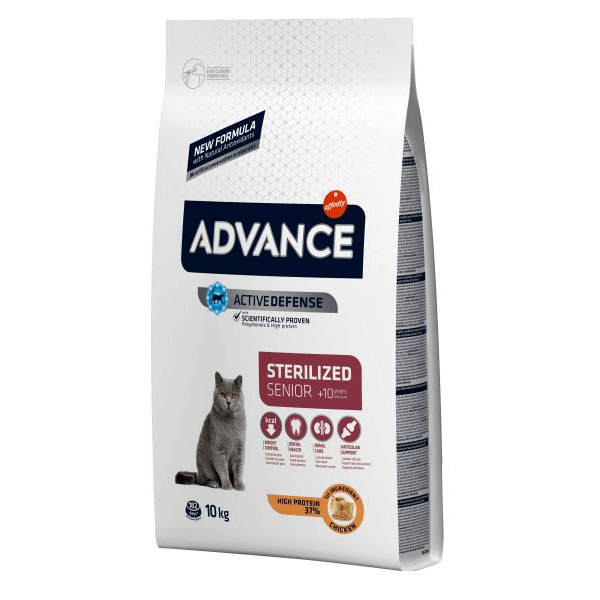 Advance Cat Sterilzed Sensitive Senior 10+