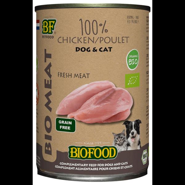 Biofood Organic 100% Kippenvlees (12 x 400g)