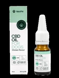 Natupet CBD Olie voor Honden - Kip (2,5%) 10ml