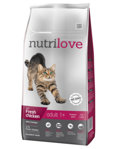 Nutrilove Adult 1+ Verse Kip (8 kg)