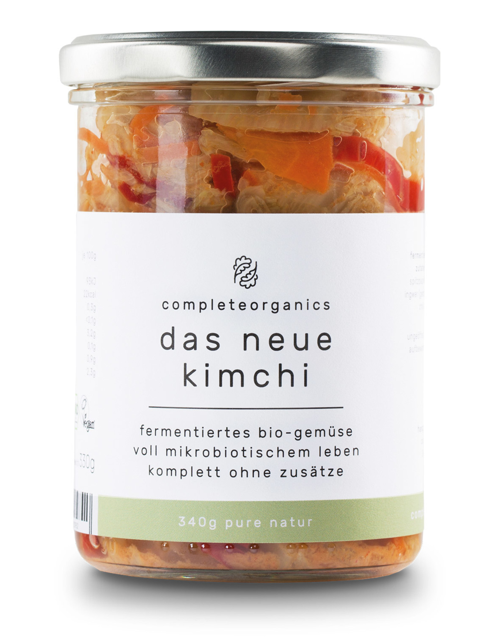 Completeorganics el nuevo Kimchi, verduras fermentadas, 340g