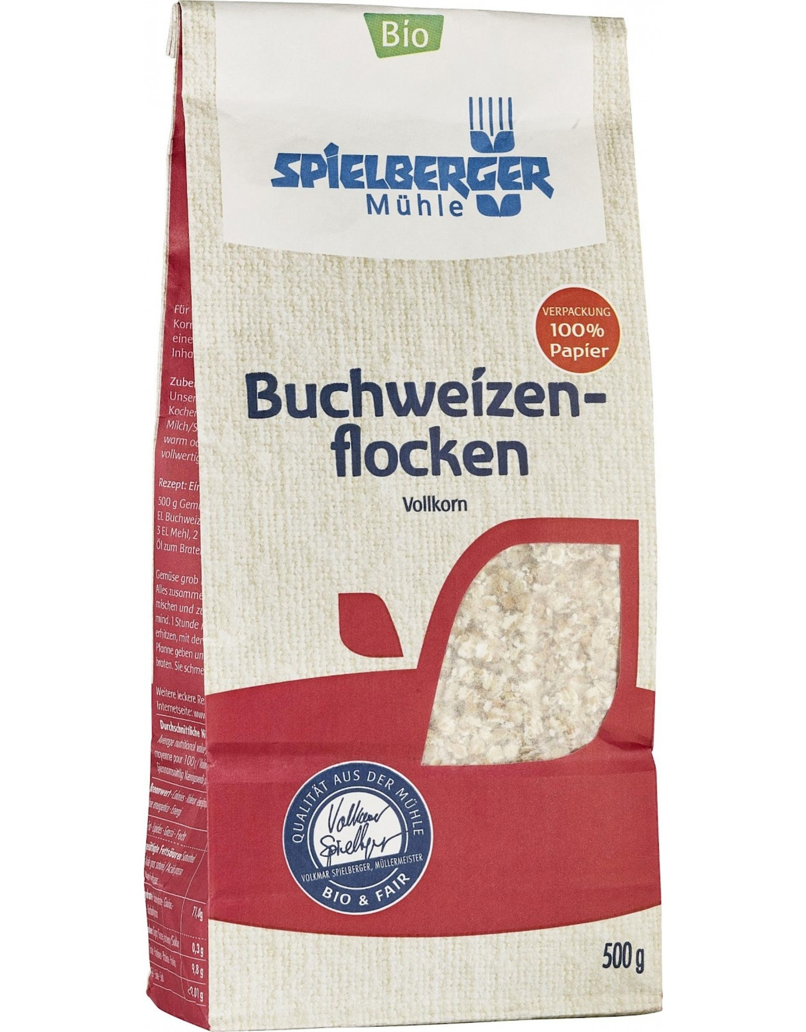 SPIELBERGER Glutenfreie Buchweizenflocken, kbA 250g