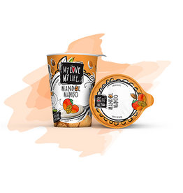 my love my life Crema de almendras con mango, 180g