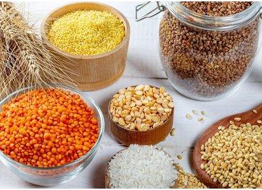 Reis, Getreide und Hülsenfrüchte