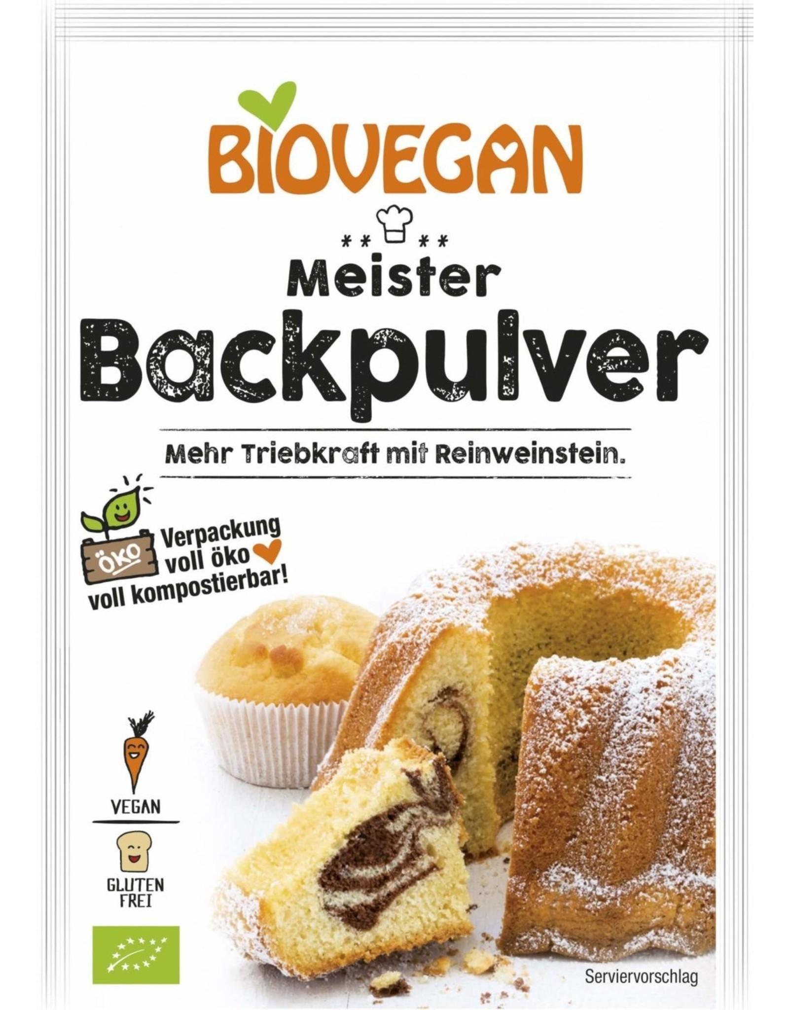 BIOVEGAN Meister Backpulver, BIO, 3x17g