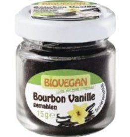 BIOVEGAN Vainilla Bourbon en un vaso, molida, orgánica, 15g