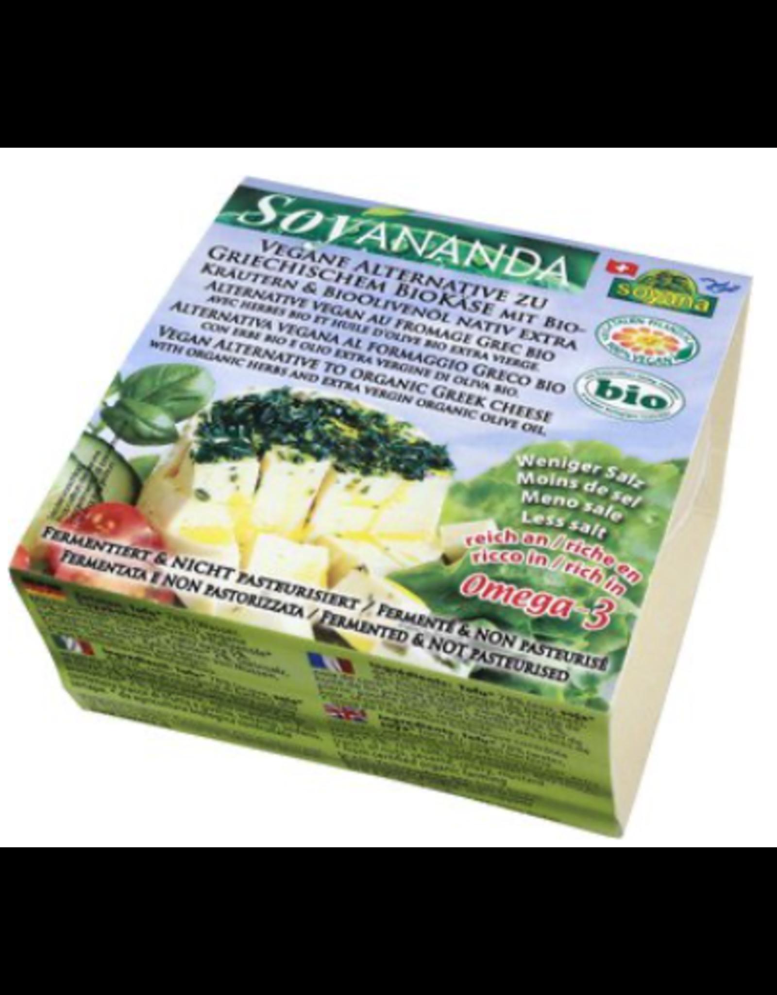 Soyana Alternative zu griechischem Käse mit Kräutern, 200g