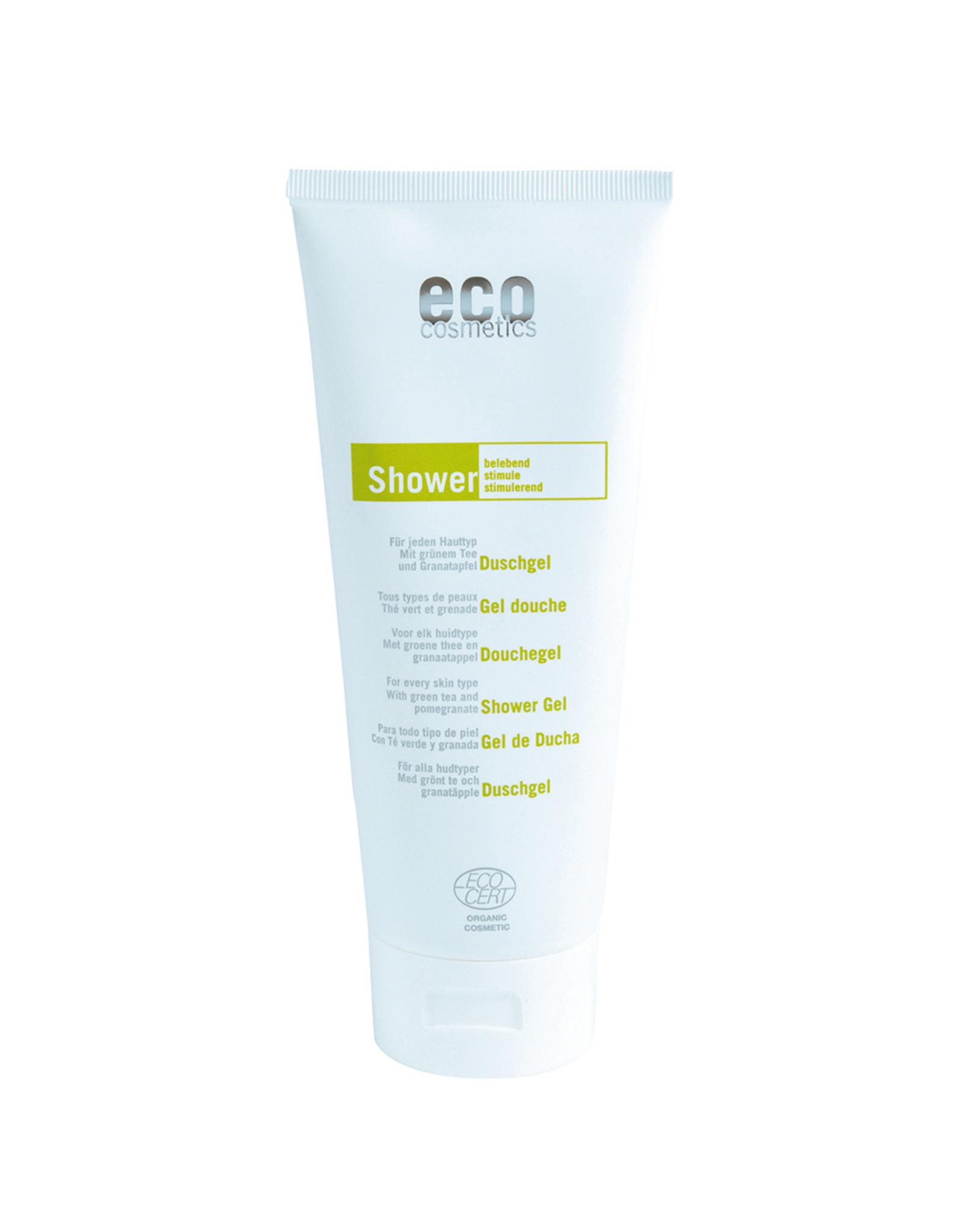 eco cosmetics Duschgel mild Grüner Tee-Granatapfel, 200ml