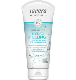 LAVERA Basis sensitiv Hydro Feeling Duschgel 2in1 für Haut & Haar, 200ml