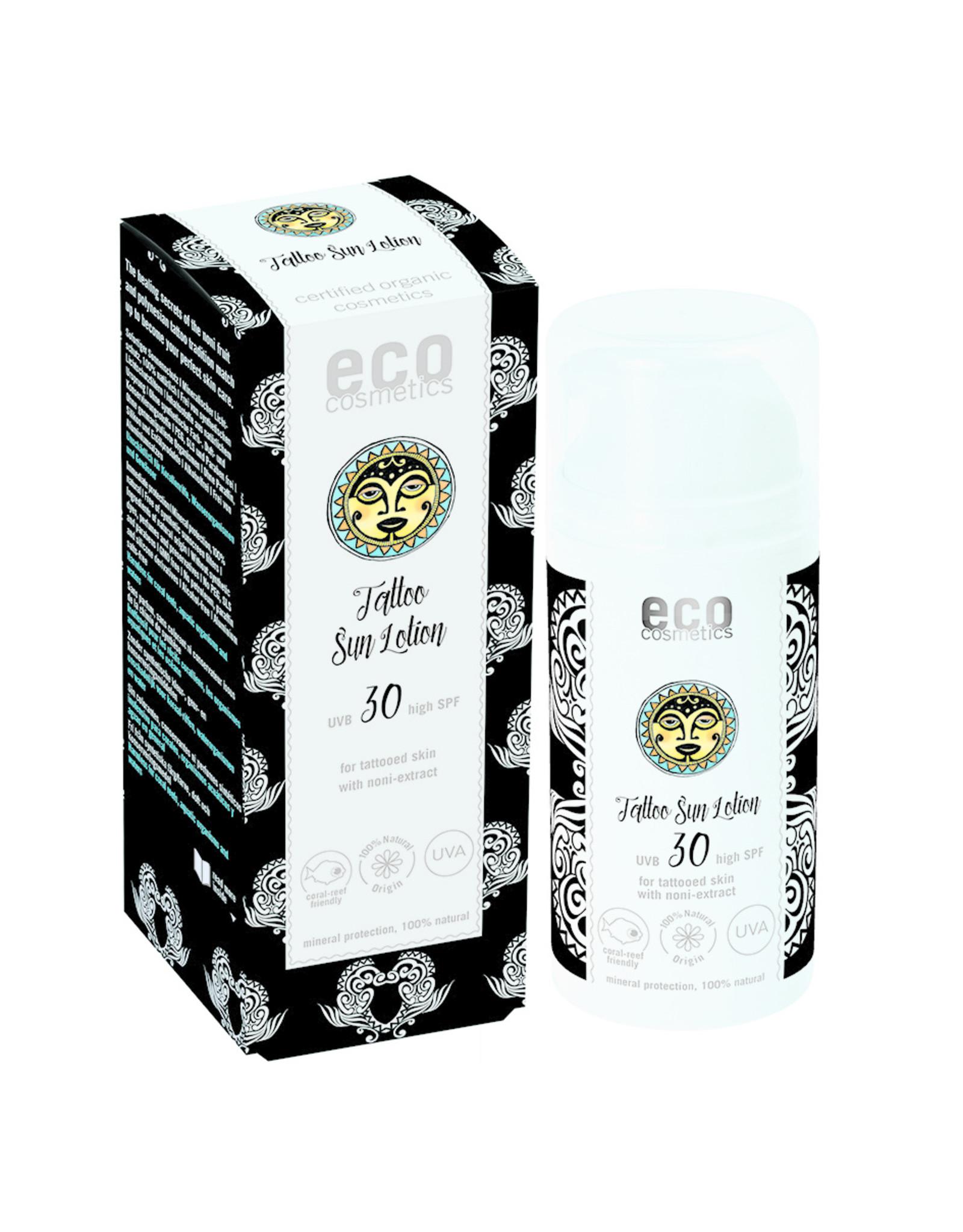 eco cosmetics Loción solar para tatuajes FPS 30 con noni, 100ml.