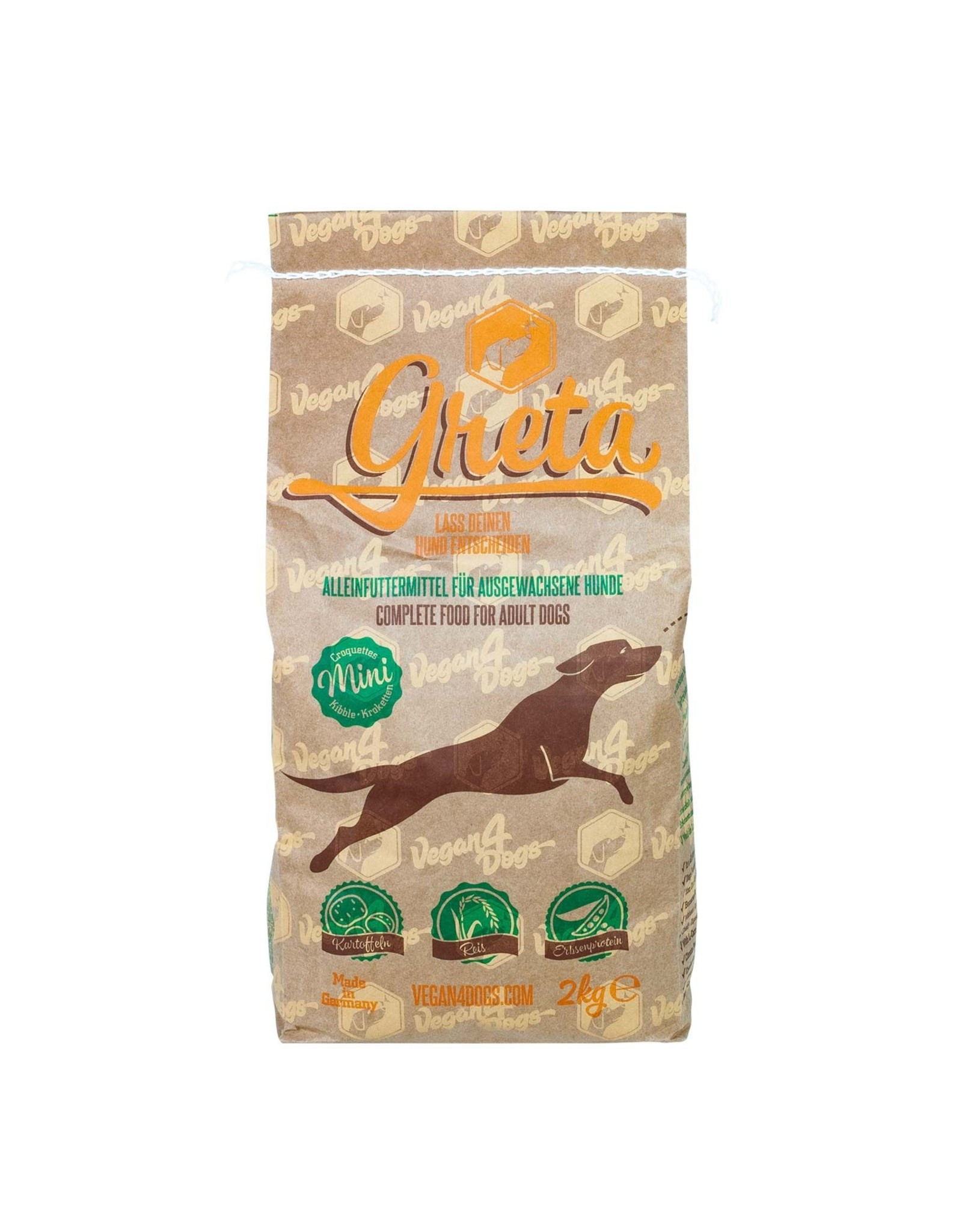 Vegan4Dogs Greta, kleine Kroketten, 10kg