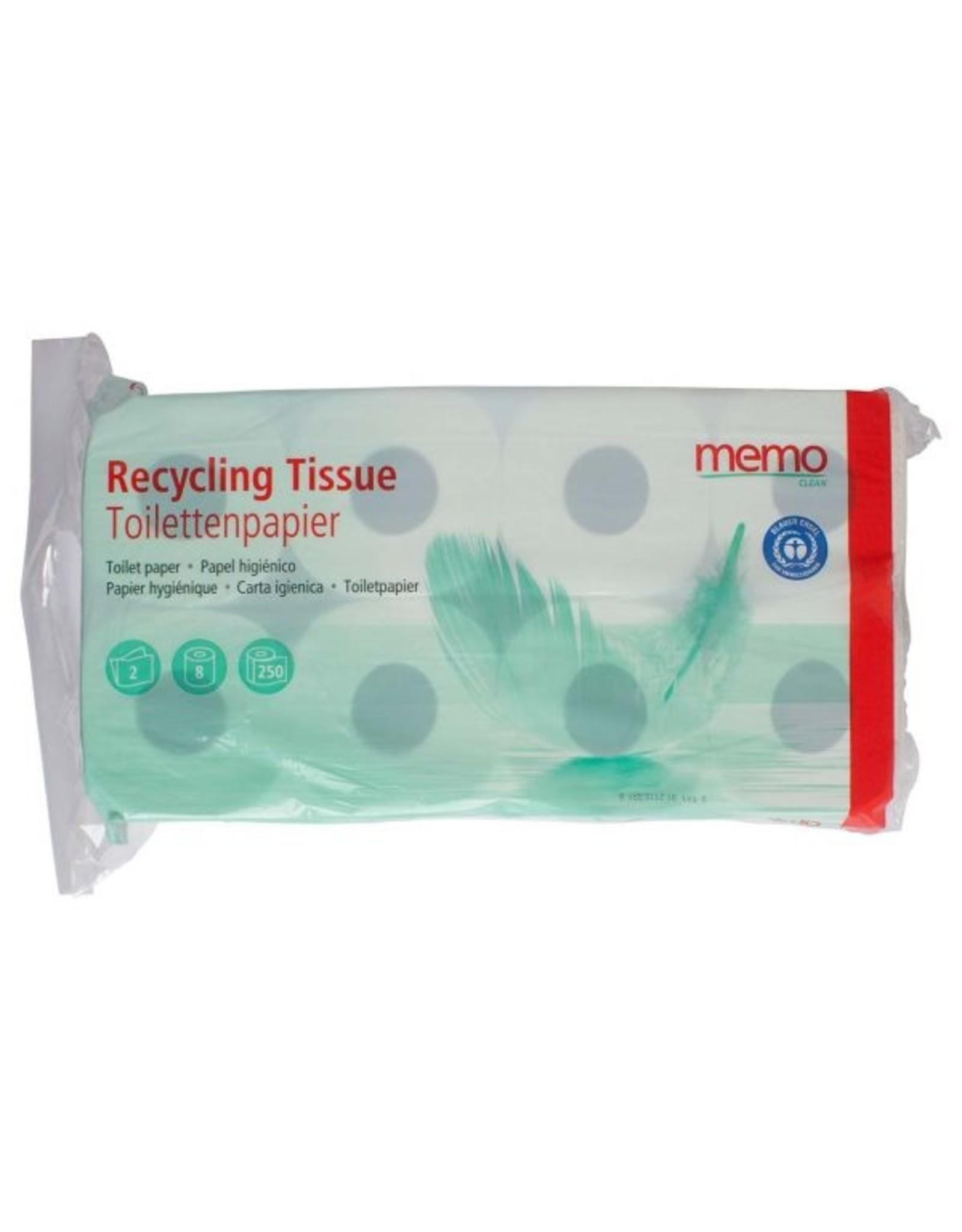 "memo Toilettenpapier ""Recycling Tissue"" 2-lagig"