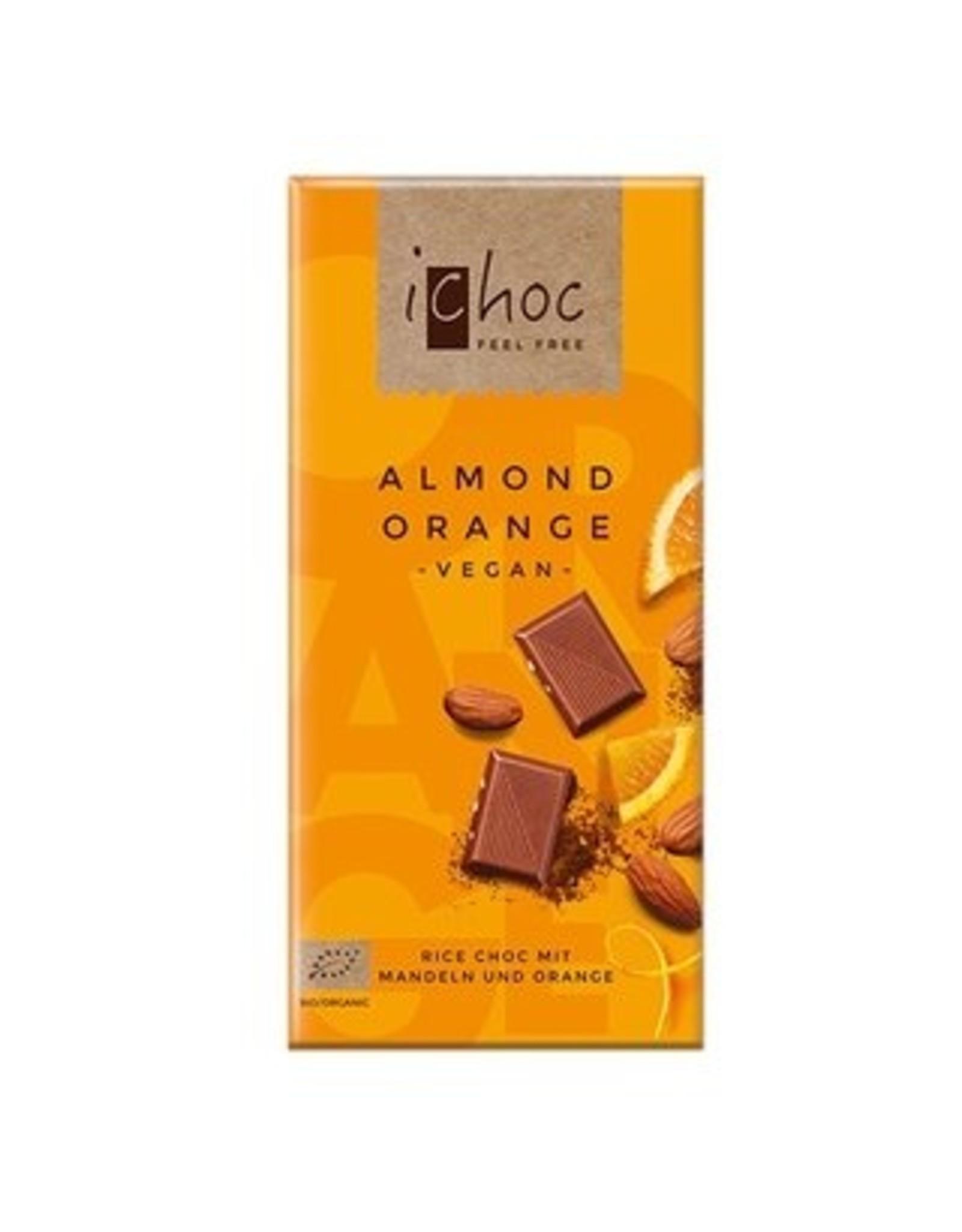 iChoc Almond Orange Rice Choc 80g