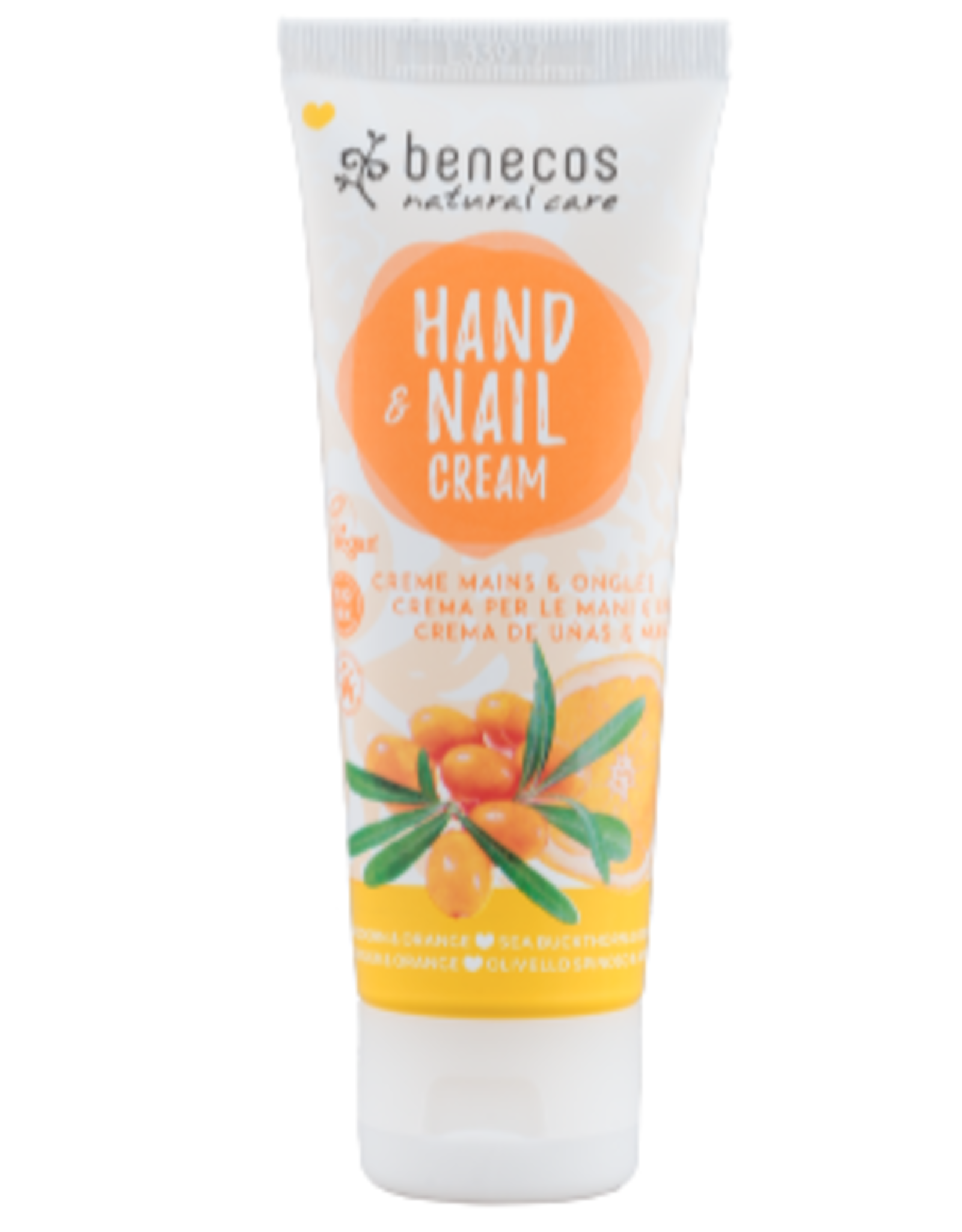 benecos NATURAL HAND & NAIL CREAM Sanddorn & Orange 75ml