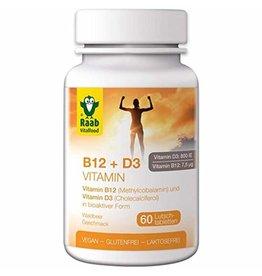 """Raab Vitalfood Pastillas de vitamina B12 y D3 """"Frutas del bosque"""". 60 piezas"""