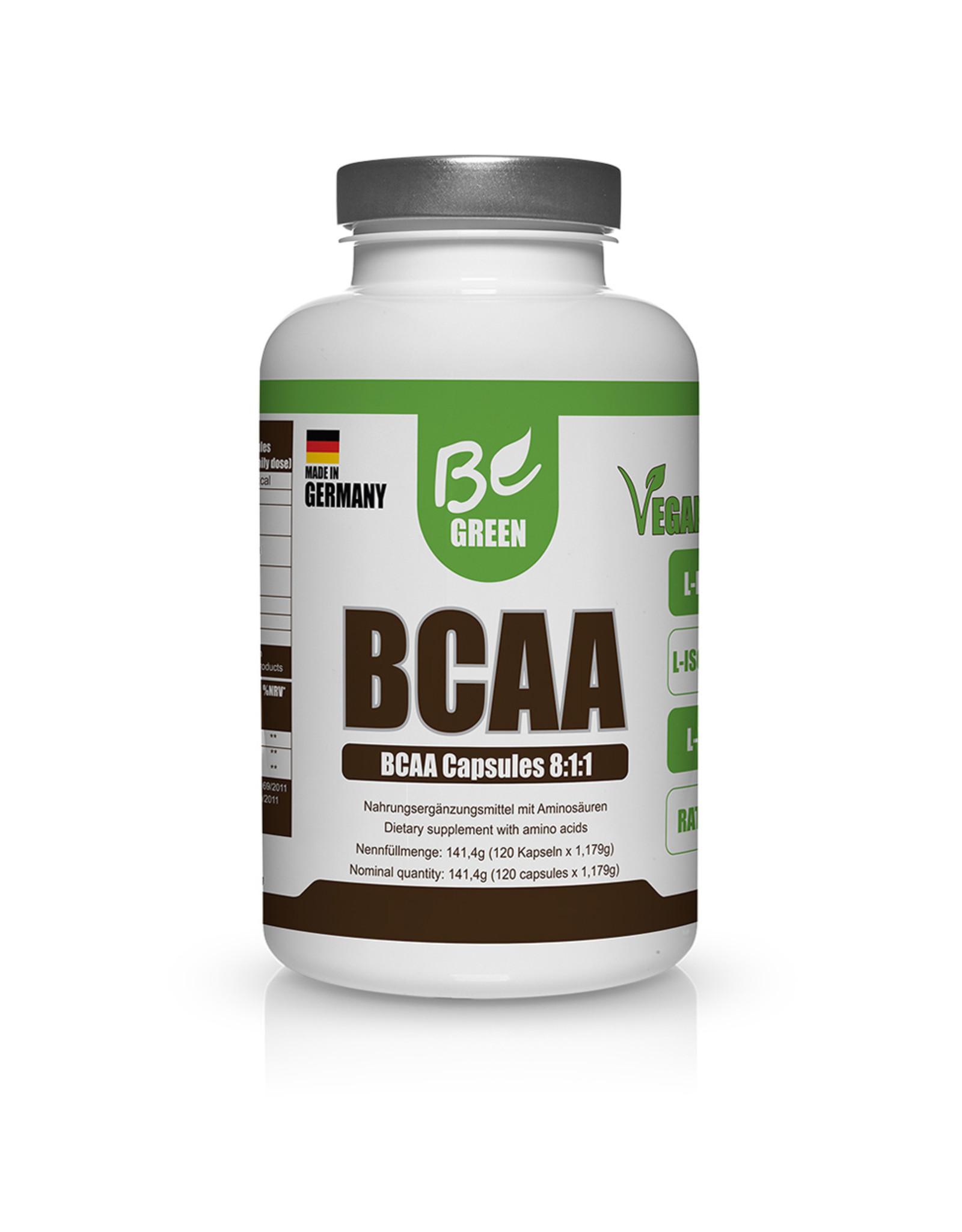 BE GREEN CÁPSULAS DE BCAA, 141,4G