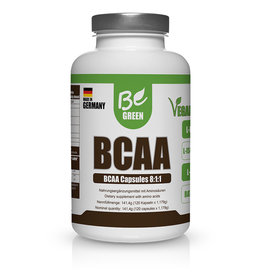 BE GREEN CÁPSULAS DE BCAA, 141,4G