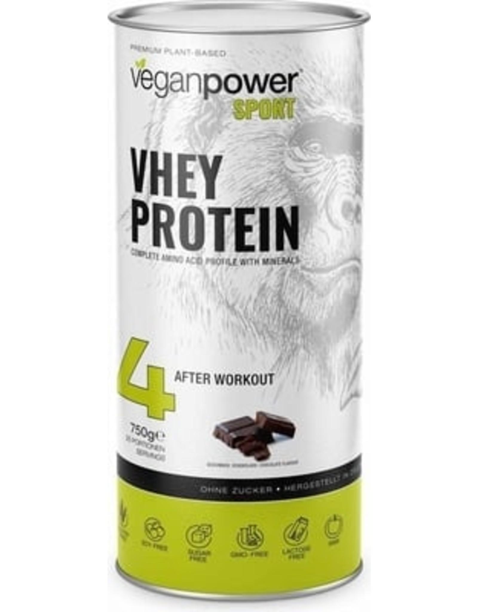 Veganpower VHEY PROTEIN MIT SCHOKOLADENGESCHMACK, 750G