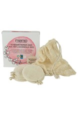 memo Kosmetik Pads Duo aus Bio-Baumwolle 10Stk