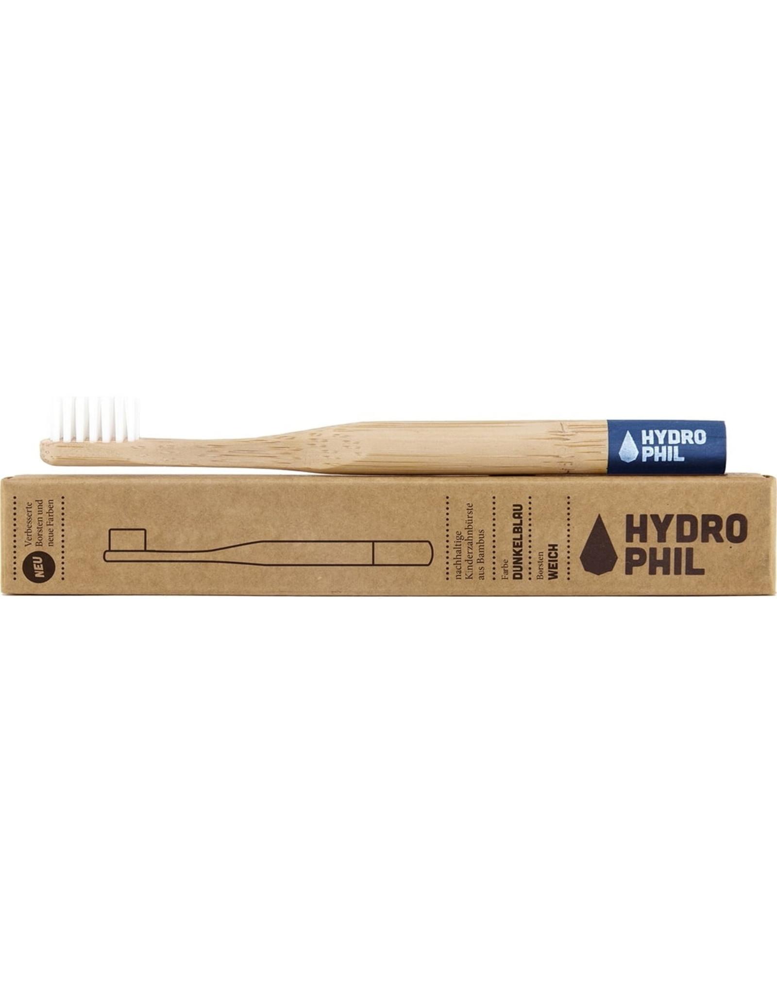 HYDROPHIL Bambus-Kinder-Zahnbürste blau extraweich, 1 Stück