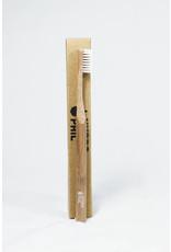 HYDROPHIL Cepillo de dientes de bambú, azul medio suave, 1 pieza