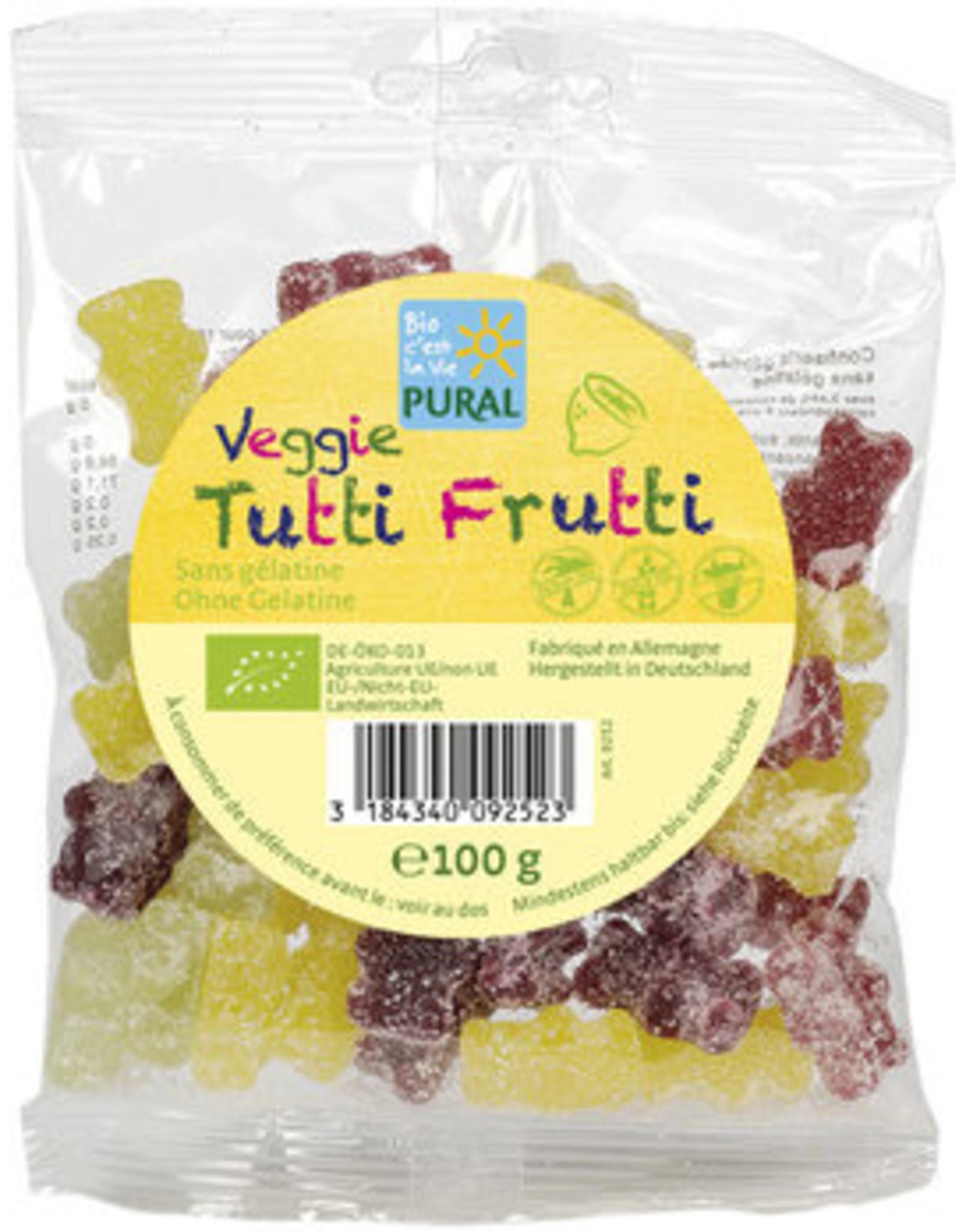 Pural Veggie Tutti Frutti Fruit Gelée sin gelatina 100g BIO