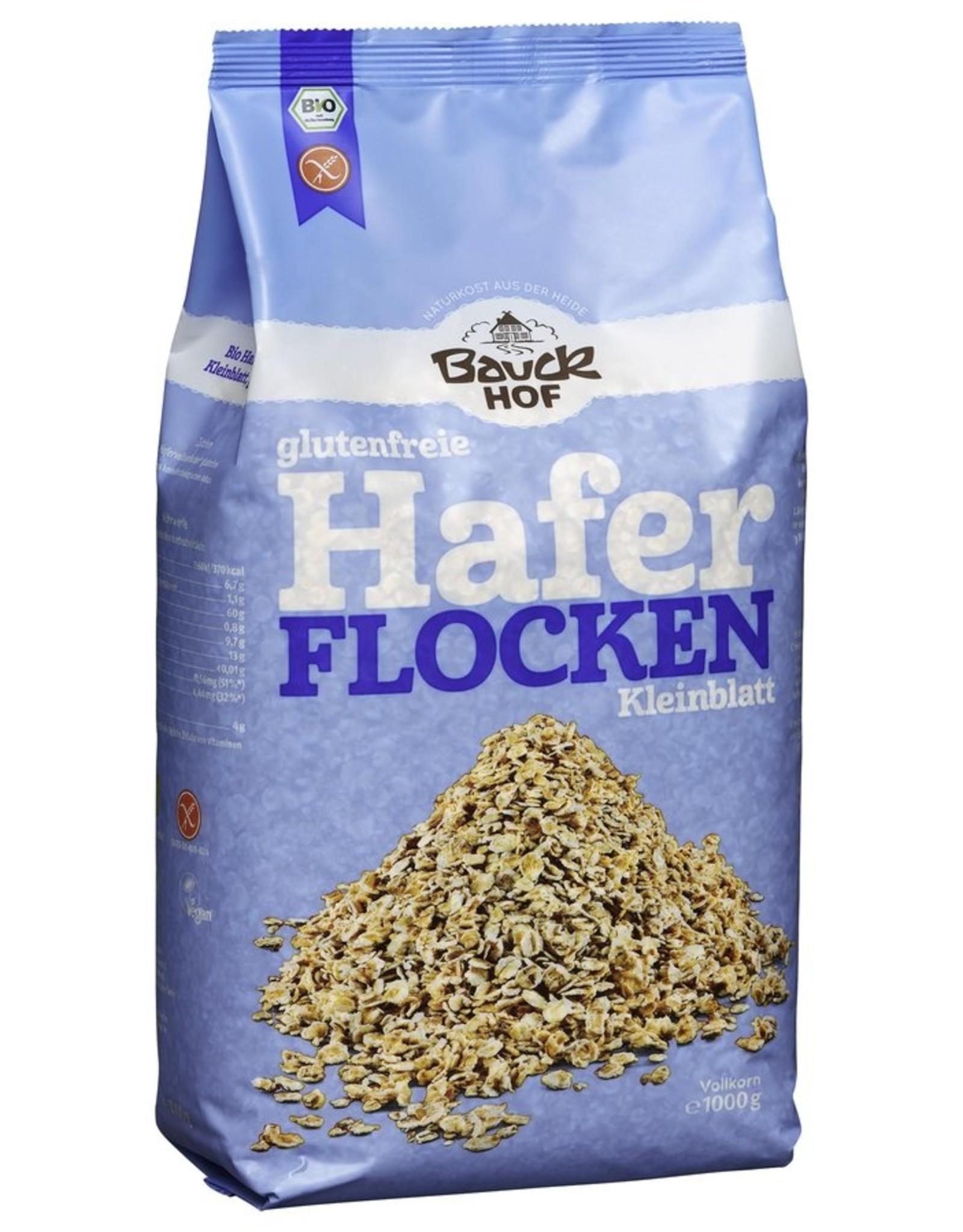 Bauckhof Copos de avena de hoja pequeña sin gluten 1 kg.