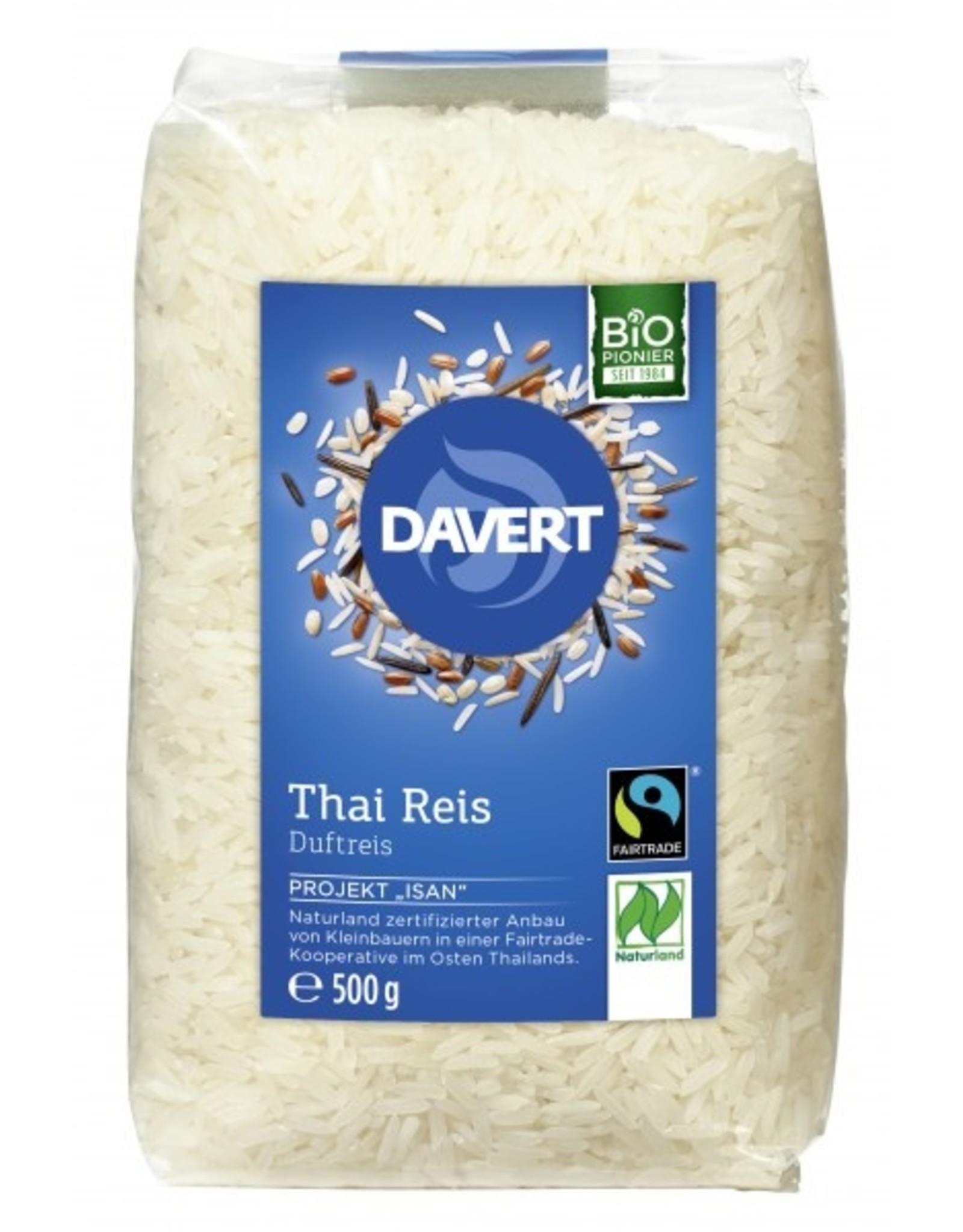 Davert  Arroz tailandés blanco de grano largo y aromático 500g