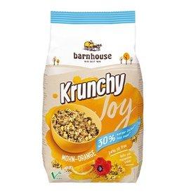 Barnhouse Krunchy Joy semilla de amapola naranja 30% menos azúcar 375g