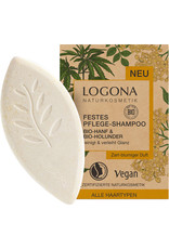 Logona Festes Pflege Shampoo Bio-Hanf & Bio-Holunder 60g